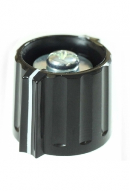 Wing knob, black, glossy, with line