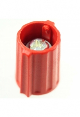 Wing knob, red, mat finish