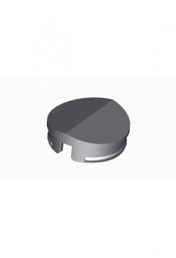 Prismatic cap for short knobs, grey, mat finish