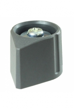 Arrow knob, grey, mat finish