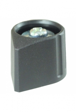 Arrow knob, black, mat finish
