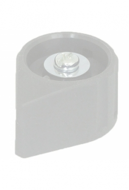 Arrow knob, liht grey, mat finish