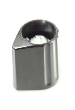 Arrow knob, black, glossy