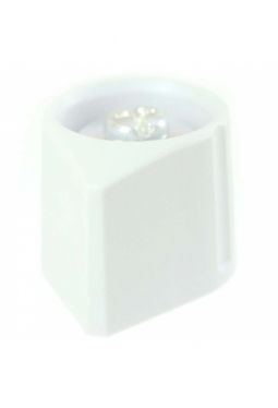 Arrow knob, light grey, glossy