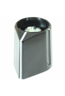 Arrow knob, black, glossy, with line