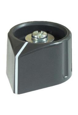 Arrow knob, grey, glossy, with line