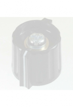 Short wing knob. grey, glossy, with line