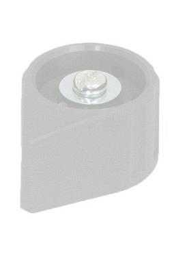 Arrow knob, grey, mat finish
