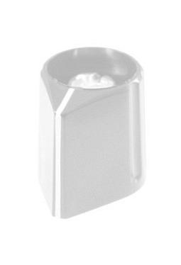 Arrow knob, grey, mat finish, with line