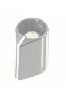 Pfeilknopf, grau, glänzend
