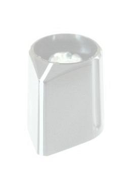 Pfeilknopf, grau, glänzend, mit Strich
