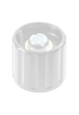 Short knob. grey, glossy