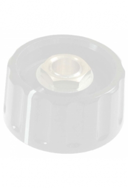 Short knob. grey, glossy, with line