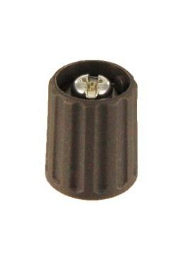 Short knob. grey, mat finish